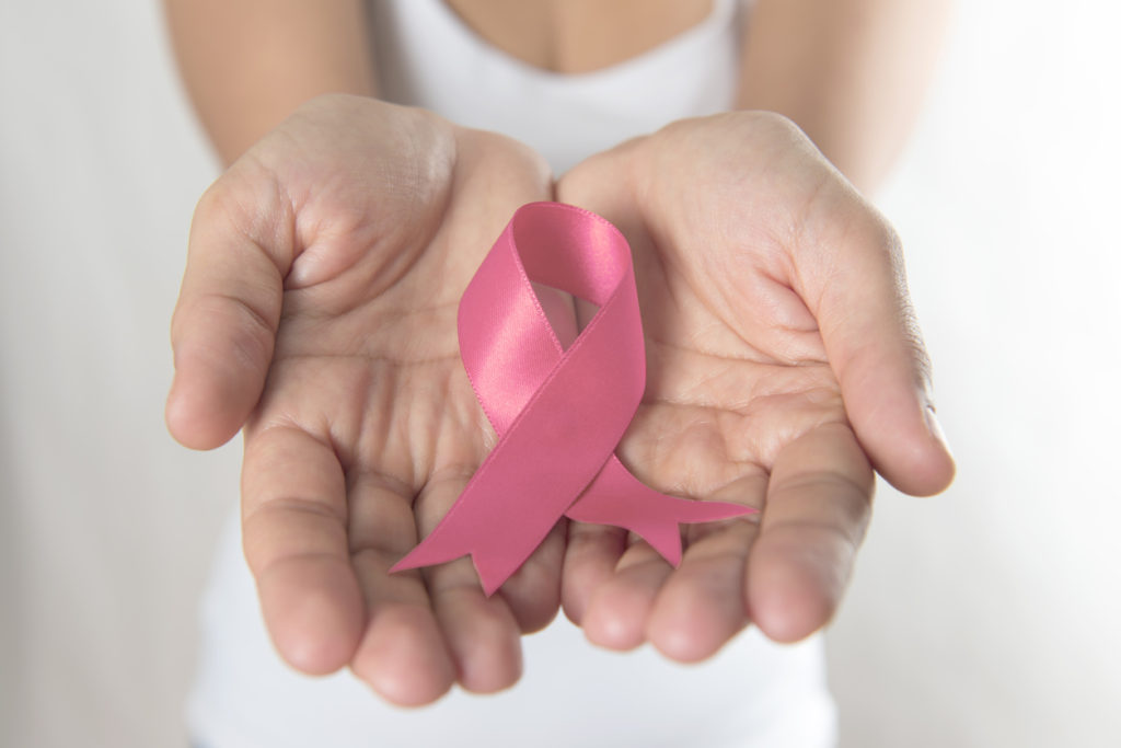 Pink Ribbons mean public awareness of breast cancer.