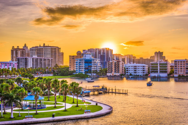 Scenic surroundings and top medical attention attract visitors to Sarasota for a Star-spangled Holiday.