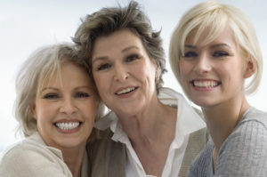 Good walks and good skin care have given this family three generations of beauty.